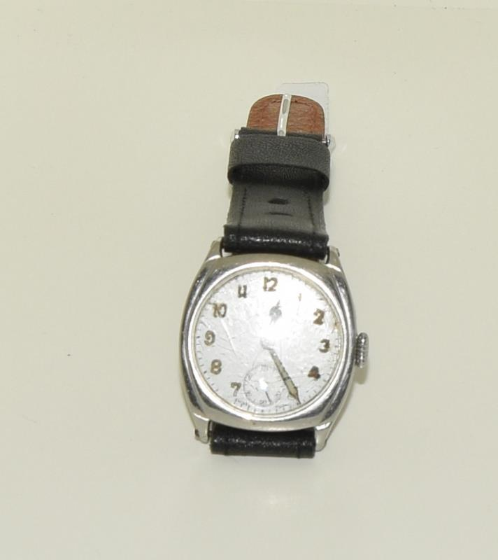 Omega gents 1930/40s manual wind wristwatch of RAF military interest (H.Dinwoodie RAF, British Army, - Image 5 of 8