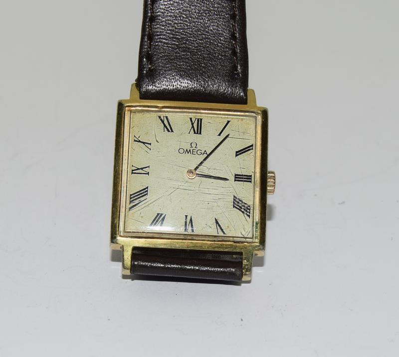 Omega Gold front gents manual wind wrist watch. - Image 7 of 8