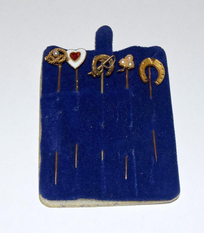 5 gold stick pins