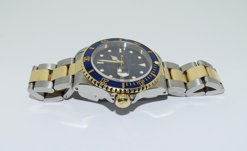 Rolex Submariner Bi Metal wristwatch. Model.no 16613 approximate year 1994 or 5588### end link no - Image 3 of 9