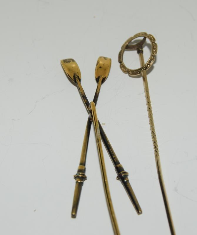 A collection of stickpins to include, 2 jockey caps. (NI007) - Image 4 of 4