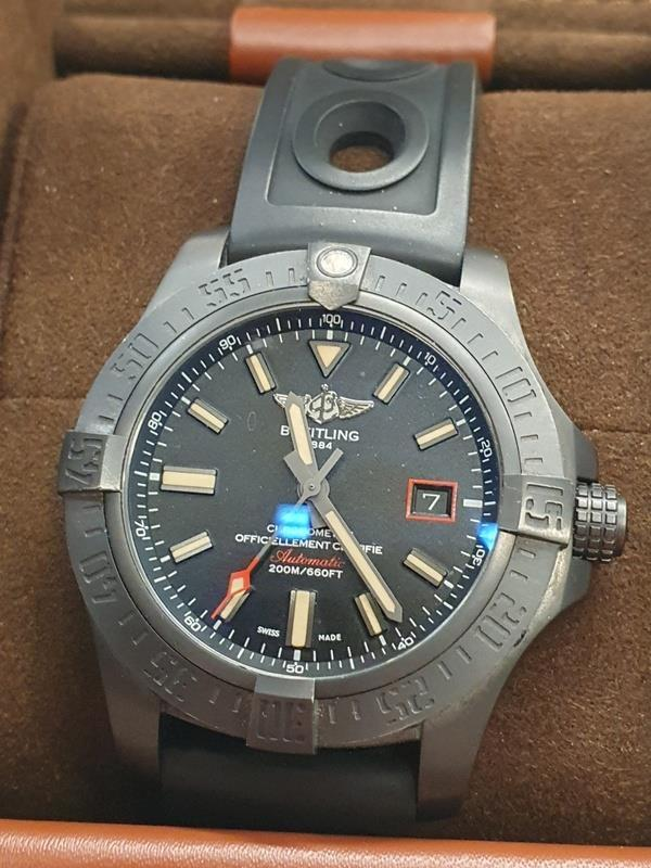 Breitling Blackbird Watch in box with papers. - Image 2 of 5