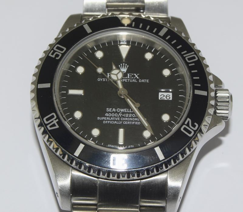 Rolex Sea Dweller gents wristwatch. Model No. 16600. Approx 1998 U39****. Very good condition. - Image 8 of 10