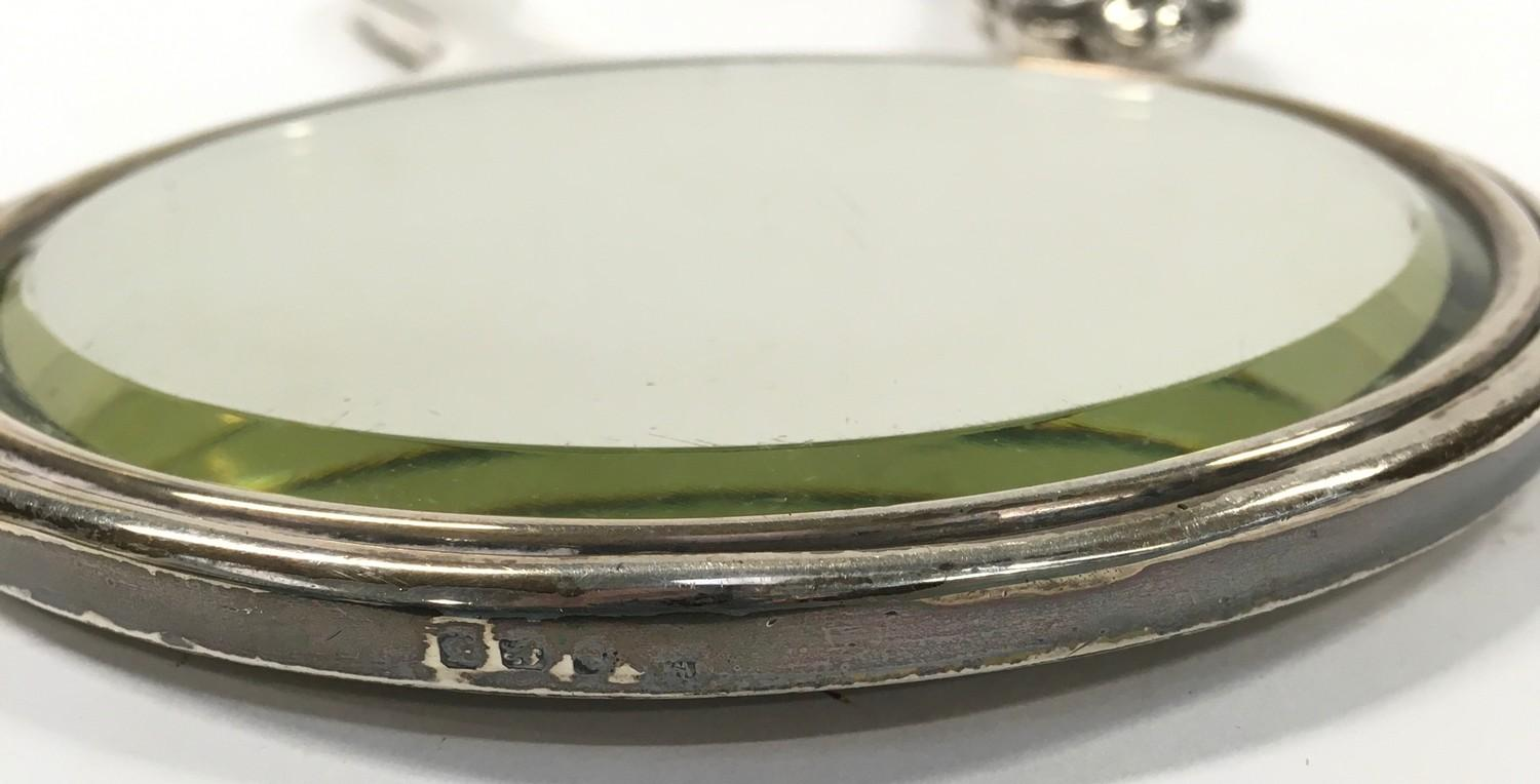 2 x Fully Hallmarked Silver Hand Mirrors, one Art Deco, the other Art Nouveau. - Image 3 of 3