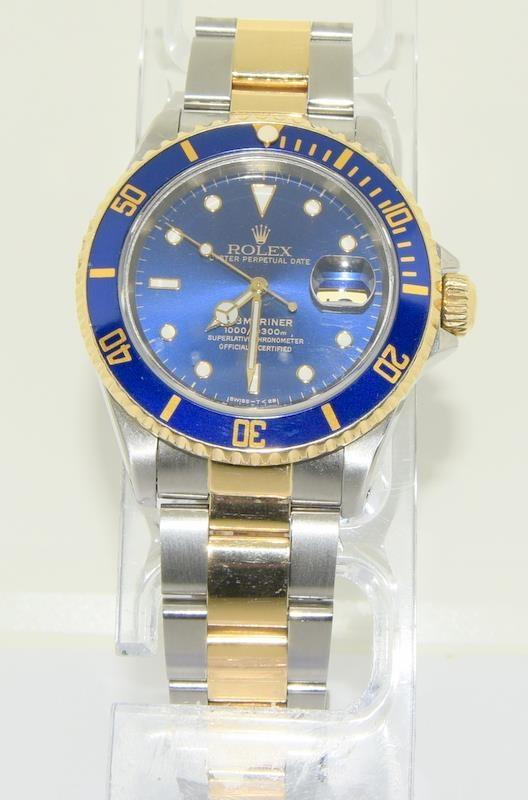 Rolex Submariner Bi Metal wristwatch. Model.no 16613 approximate year 1994 or 5588### end link no