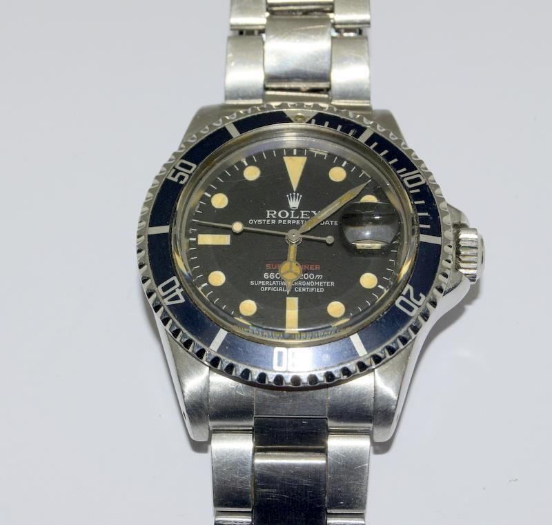 Rolex 1680 'Single Red' Submariner gents wristwatch . Movement 1570 number 306#### 1970s dial has - Image 8 of 11