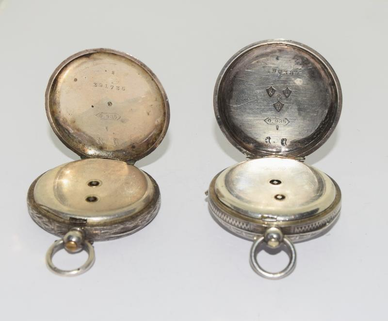 2 Silver pocket watches. - Image 5 of 6