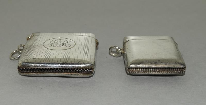 2 Silver Hallmarked Vesta Cases - Image 4 of 5