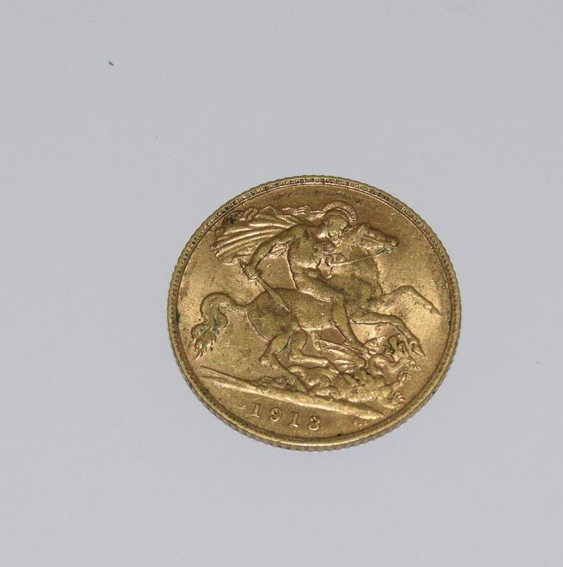 1913 Half Sovereign Coin - Image 2 of 2