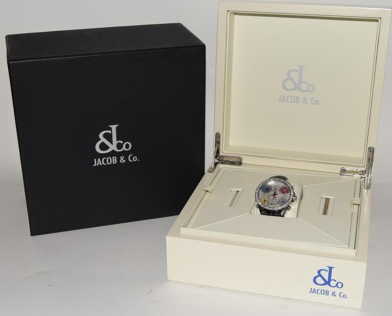 Jacob & Co Stainless Steel Gents World Time Wristwatch, boxed.
