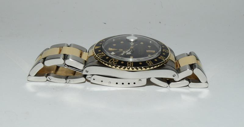 Rolex Bi Metal GMT Master Wristwatch, Dial. Serial No.8781026. - Image 9 of 16