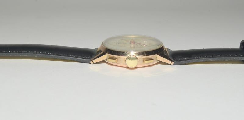 18ct Rose Gold Leonodas Triple Calander Chronograph Wristwatch. No.492472. - Image 2 of 6
