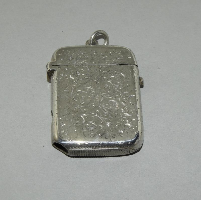 Silver Vesta Case with Fitted Match Ejector