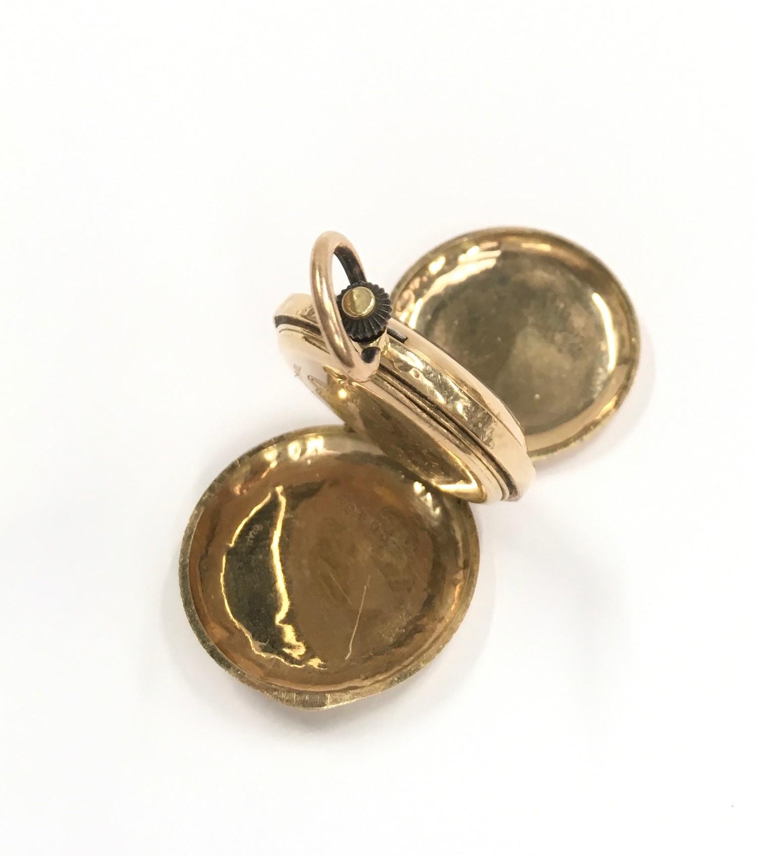 14ct Gold ladies Full Hunter pocket watch. - Image 4 of 6