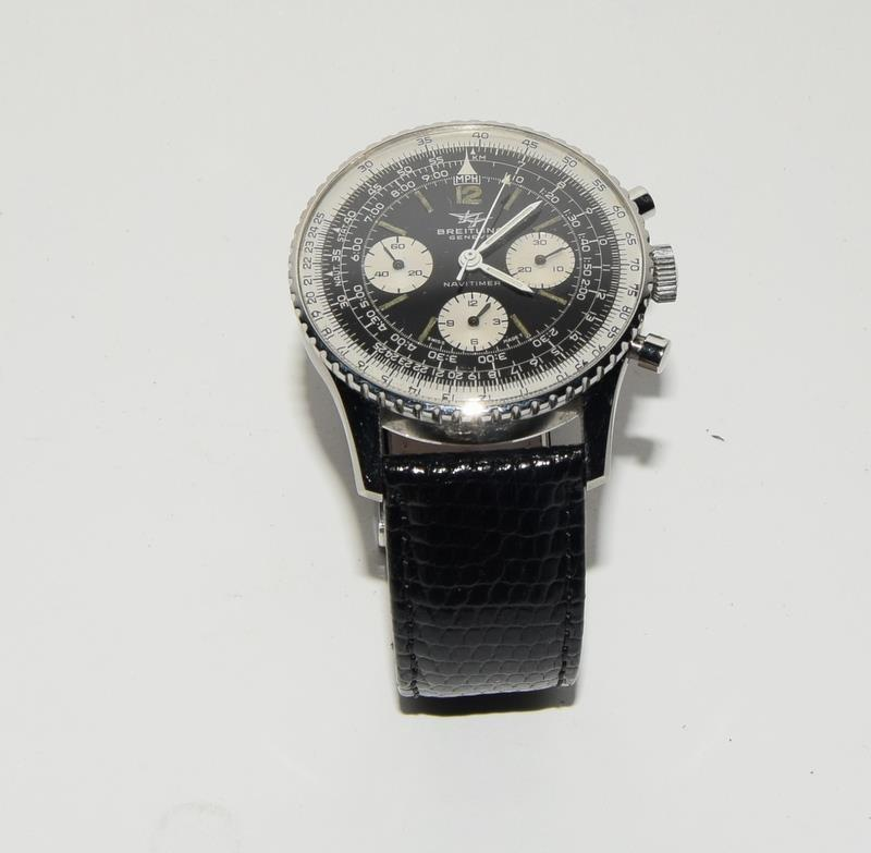 Breitling Navitimer 806 Wristwatch with papers. Date 1968. - Image 2 of 8