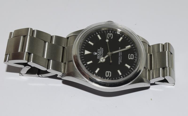 Rolex Explorer 1 Oyster watch - 36mm with bezel protector, spare link. Excellent condition, with - Image 10 of 10