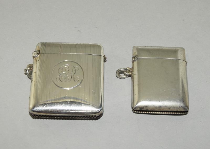 2 Silver Hallmarked Vesta Cases