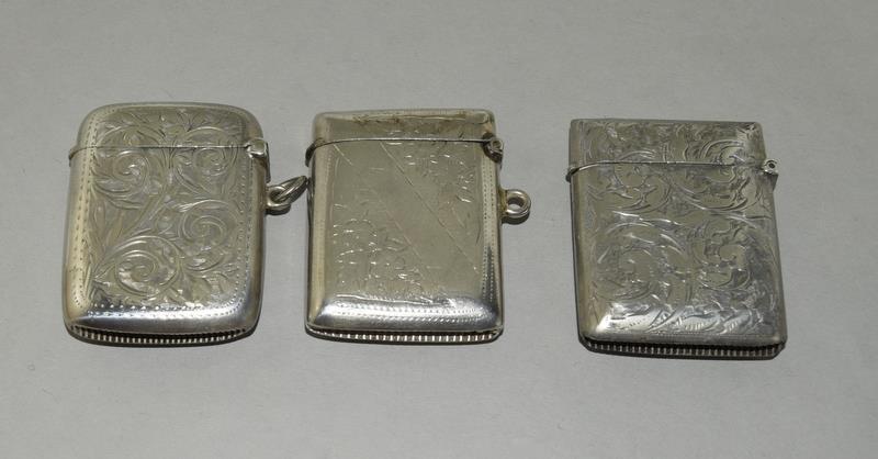 3 Silver Hallmarked Vesta Cases - Image 2 of 3