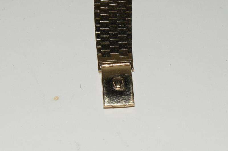 9ct Gold Rolex Precision wristwatch on original Rolex Gold bracelet. - Image 5 of 8