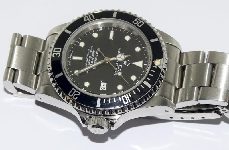 Rolex Sea Dweller gents wristwatch. Model No. 16600. Approx 1998 U39****. Very good condition. - Image 10 of 10