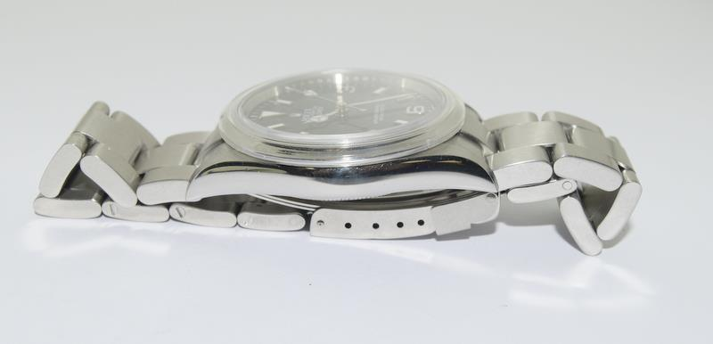 Rolex Explorer 1 Oyster watch - 36mm with bezel protector, spare link. Excellent condition, with - Image 5 of 10