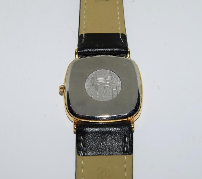 Omega Deville Gold plated gents wristwatch - working. - Image 6 of 8