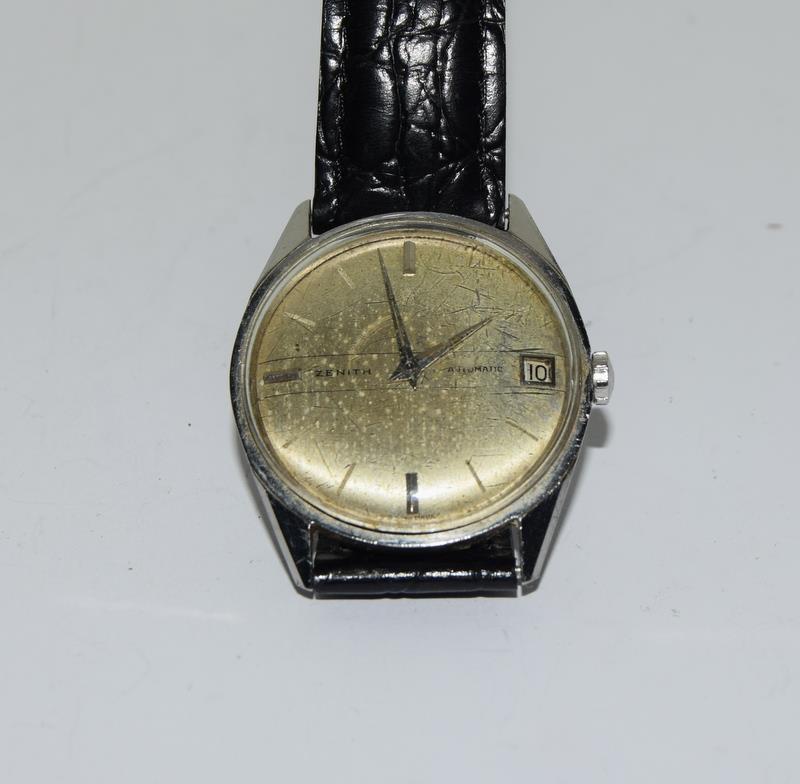 Zenith manual wind gents wrist watch.