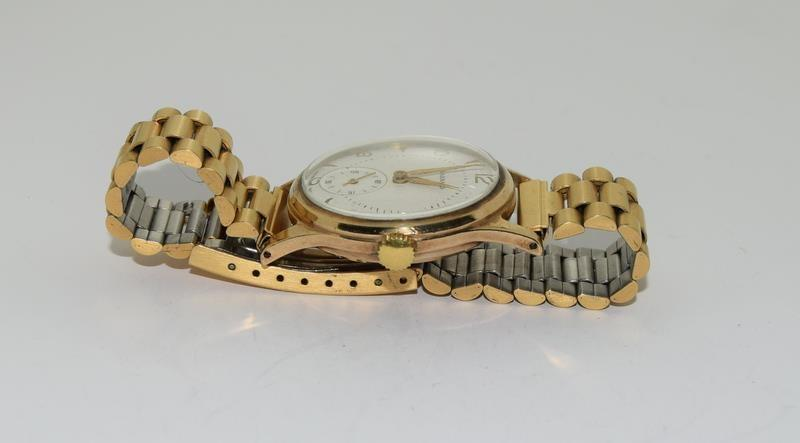 Garrard 9ct Gold 1960s presented by the Ford Motor Company gents manual wind wrist watch. - Image 3 of 8