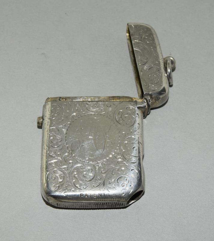 Silver Vesta Case with Fitted Match Ejector - Image 3 of 7
