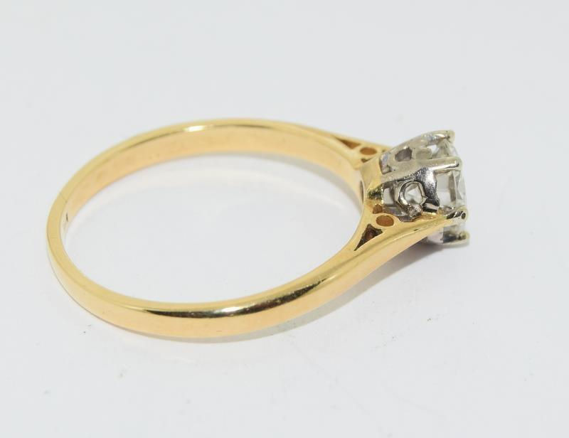 18ct Gold ladies Diamond Solitaire ring. Size N. - Image 4 of 12