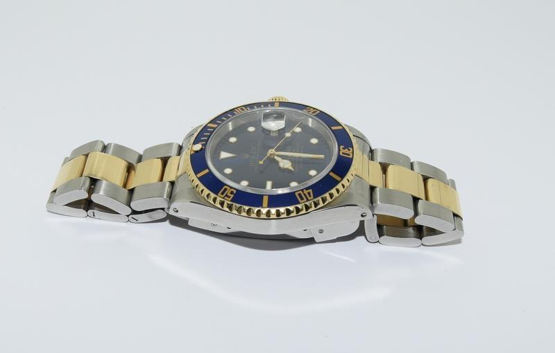 Rolex Submariner Bi Metal wristwatch. Model.no 16613 approximate year 1994 or 5588### end link no - Image 4 of 9