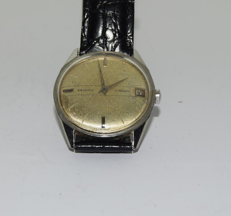 Zenith manual wind gents wrist watch. - Image 8 of 8