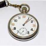 Military GS/TP pocket watch by Bravingtons of London will require a service to get working