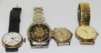 4 Manual Gents Wristwatches, Some Working.