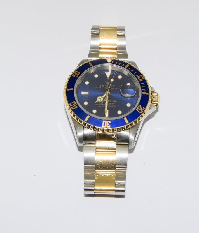 Rolex Submariner Bi Metal wristwatch. Model.no 16613 approximate year 1994 or 5588### end link no - Image 2 of 9