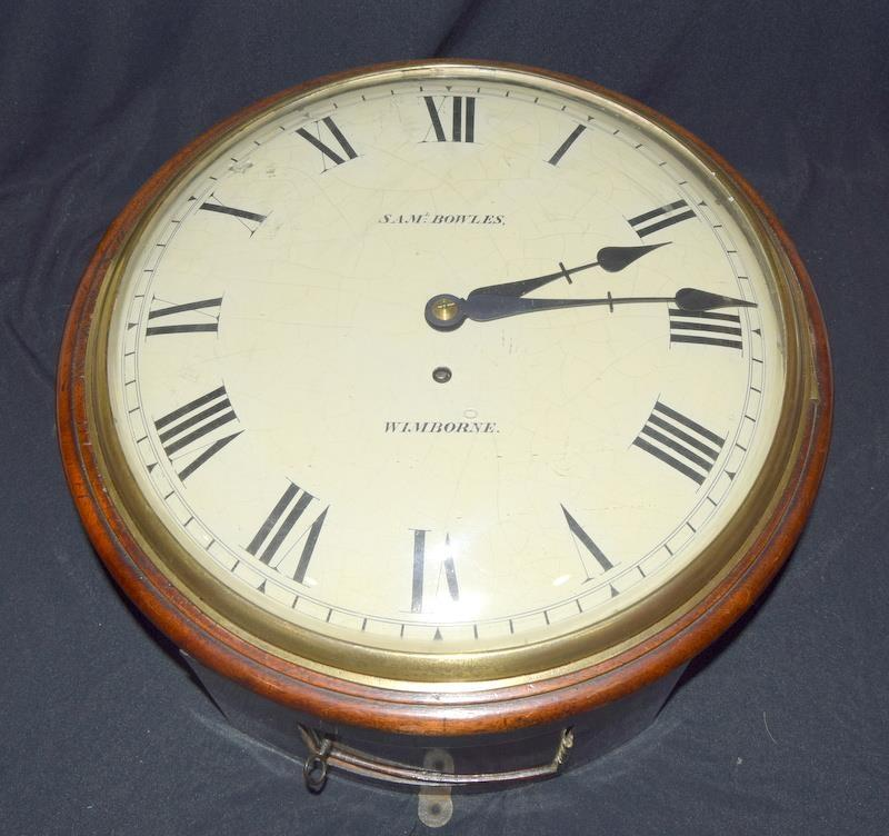 A Victorian Mahogany wall clock , fusee movement with a convex dial, by Walkers of Birmingham, - Image 9 of 9