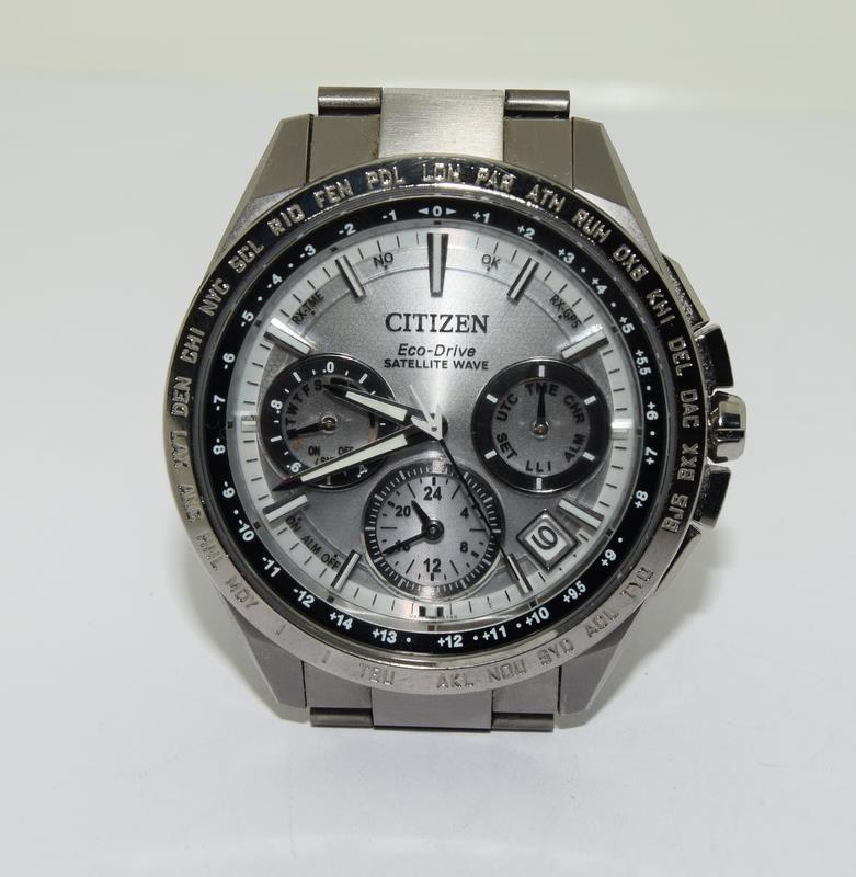 Citizen Eco-Drive Satellite eave Steel mans watch. - Image 12 of 13