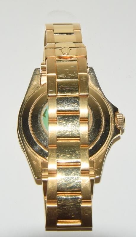 Rolex 18ct Gold Yachtmaster Wristwatch in original box. - Image 6 of 8