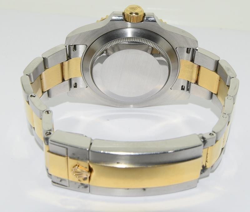 Rolex Submariner Blue Bi Metal 18ct Gold on Stainless Steel ceramic bezel gents wristwatch. No - Image 5 of 9