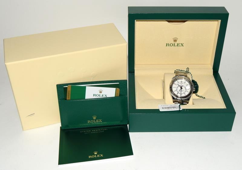 Rolex Stainless Steel Sky-Dweller Wristwatch. Model No.326934. Boxed and papers 2019.