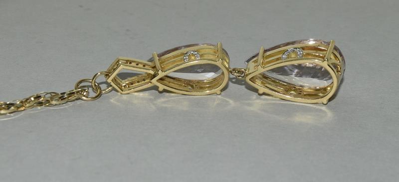 18ct Gold Kuuzite Diamond necklace. - Image 4 of 6