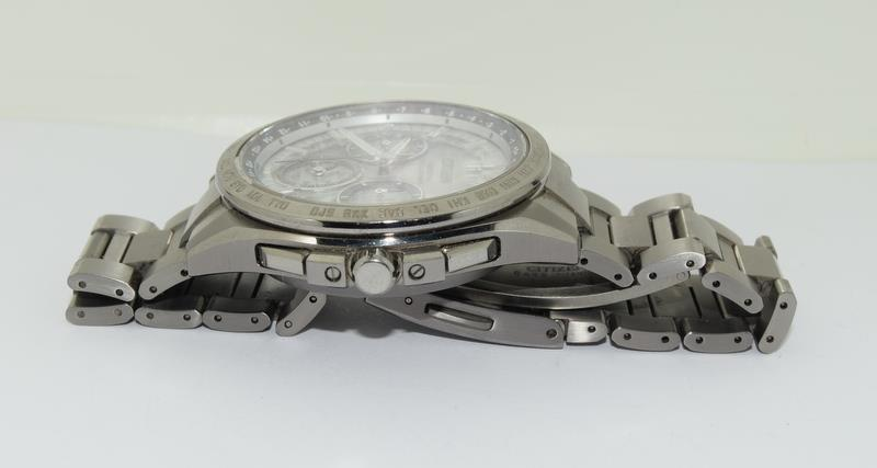 Citizen Eco-Drive Satellite eave Steel mans watch. - Image 5 of 13