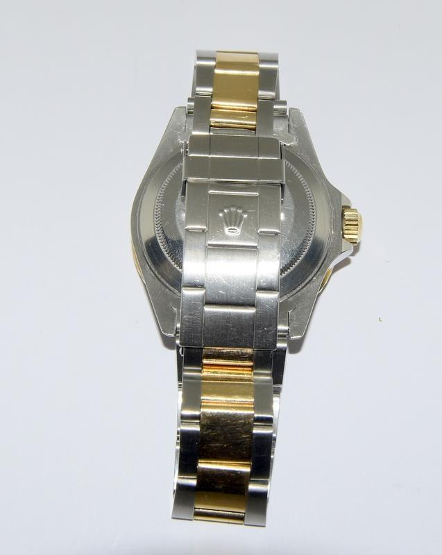 Rolex Submariner Bi Metal wristwatch. Model.no 16613 approximate year 1994 or 5588### end link no - Image 6 of 9