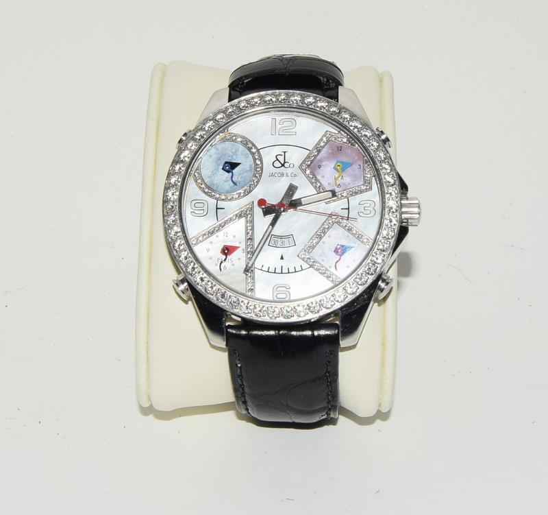 Jacob & Co Stainless Steel Gents World Time Wristwatch, boxed. - Image 6 of 7