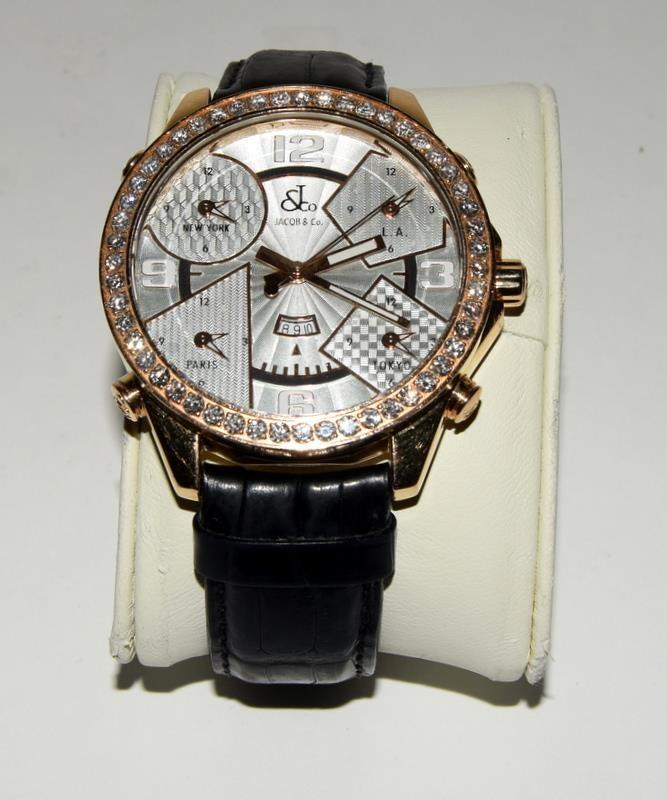 18ct Jacob & Co World Time Gents wristwatch, boxed. - Image 2 of 8