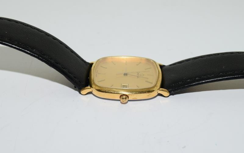 Omega Deville Gold plated gents wristwatch - working. - Image 3 of 8