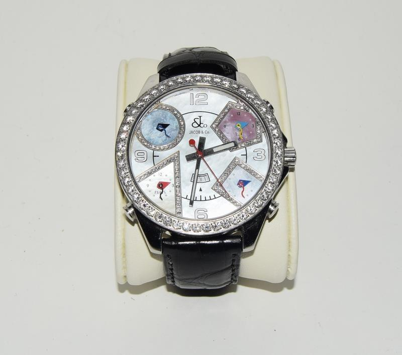 Jacob & Co Stainless Steel Gents World Time Wristwatch, boxed. - Image 2 of 7