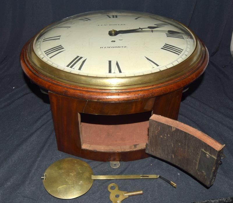 A Victorian Mahogany wall clock , fusee movement with a convex dial, by Walkers of Birmingham, - Image 8 of 9