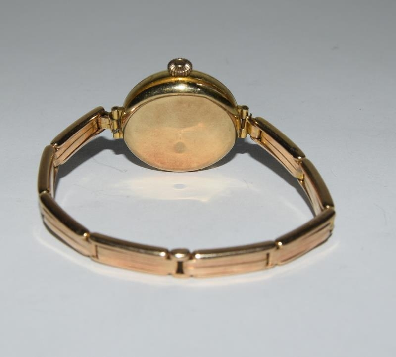 15ct Gold ladies watch and strap together with 9ct White Gold bracelet. - Image 2 of 8