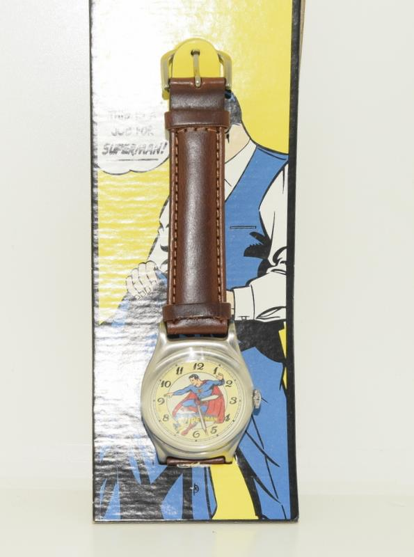 Vintage Superman Fossil Collectors watch. Complete with badge, papers and both boxes. - Image 2 of 5